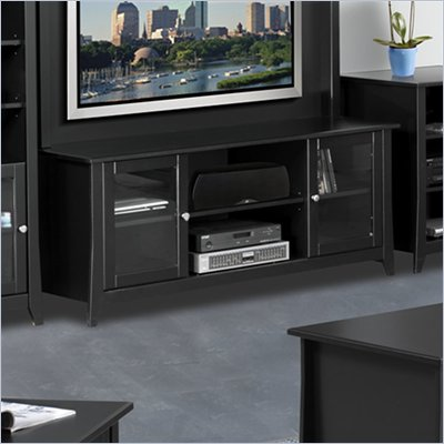 Nexera Tuxedo 58&quot; TV Stand in Black