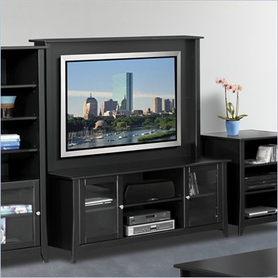 Nexera Tuxedo 58&quot; TV Stand with Hutch in Black