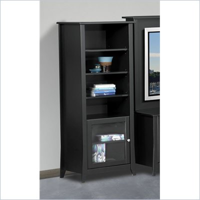 Nexera Tuxedo Curio Cabinet in Black