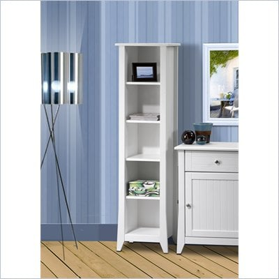 Nexera Vice Versa 60&quot; Slim Bookcase in White