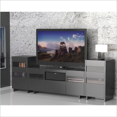 Nexera Vision 2 Tower Entertainment Center in Black