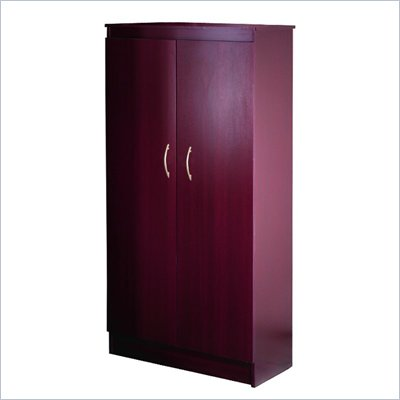 Nexera Wall Street 5-Shelf Storage Cabinet in Mahogany