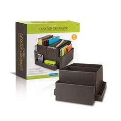 Guidecraft Folding Desk Organizer in Brown