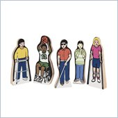 Guidecraft Wooden Special Needs Children (Set of 5)