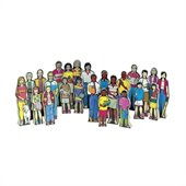 Guidecraft Wooden Multi-Cultural Family Kit (Set of 24)