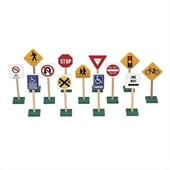 Guidecraft Hardwood 7 Traffic Signs (Set of 13)