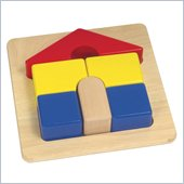 Guidecraft Wooden Primary Puzzles House