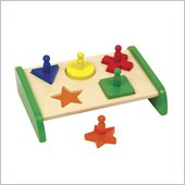 Guidecraft Wooden Non-Toxic Paints Primary Puzzle Board