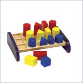 Guidecraft Wooden Non-Toxic Paints 3 In a Row Sorter