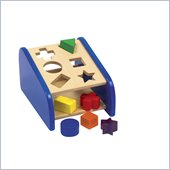 Guidecraft Wooden Non-Toxic Paints Hide 'N Seek Shape Sorter