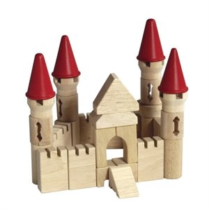 Guidecraft Hardwood Table Top Castle Blocks - G6103