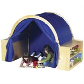 Guidecraft Birch Playhouse Hideaway with Bookshelves