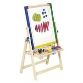 Guidecraft Harwood 4-In-1 Flipping Easels Floor Easel