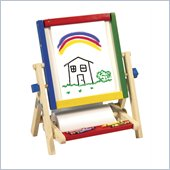 Guidecraft Hardwood 4-In-1 Flipping Easels Tabletop Easel