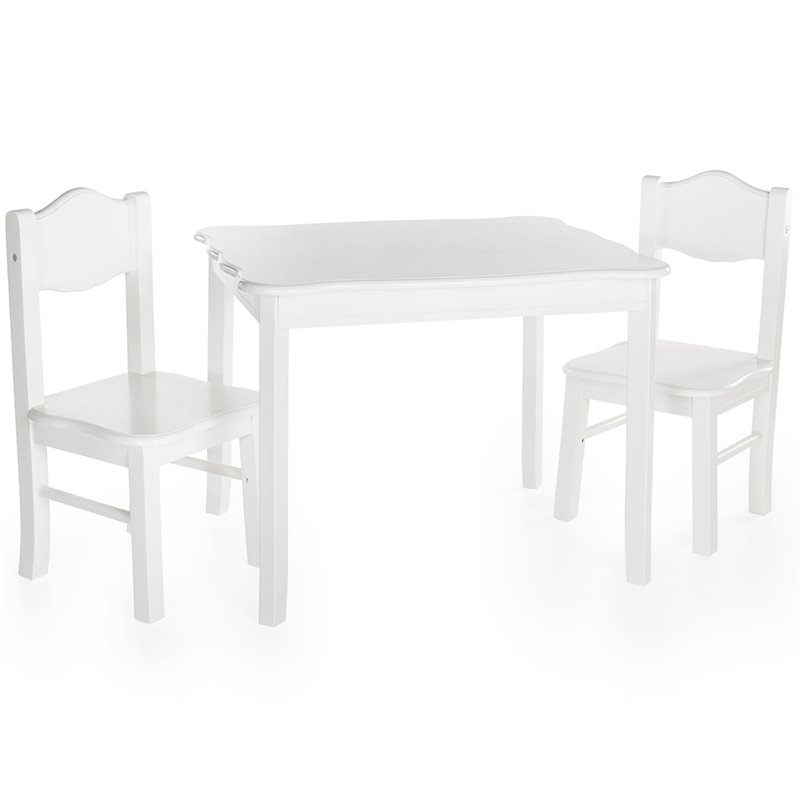 Guidecraft 85702 Classic White Table & Chairs Set