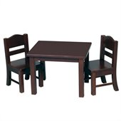 Guidecraft Espresso Doll Table and Chair Set