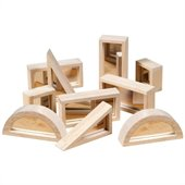 Guidecraft Hardwood Mirror Blocks Set - 10 Pieces