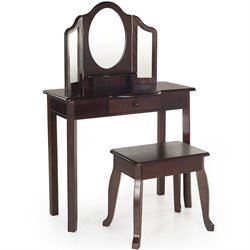 Guidecraft Classic Espresso Vanity and Stool