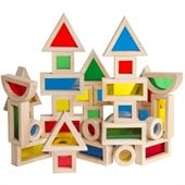 Guidecraft 40-Piece Jr. Rainbow Blocks 