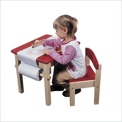 Guidecraft Red Art Table and Chair Set