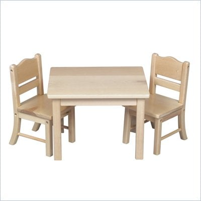 Guidecraft Natural Doll Table and Chair Set