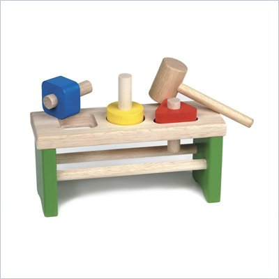 Guidecraft Hardwood Shape Sorting Pounder