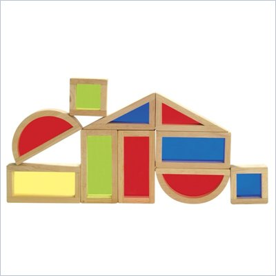 Guidecraft Hardwood Rainbow Blocks Set - 10 Pieces