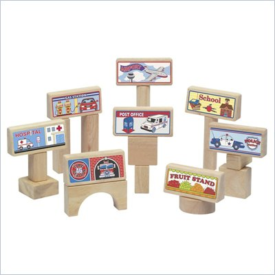 Guidecraft Hardwood Block Toppers Set - 8 Pieces