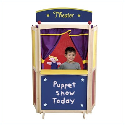 Guidecraft Hardwood Center Stage Puppet Theater