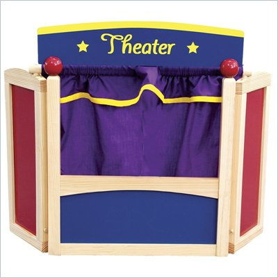 Guidecraft Hardwood Center Stage Tabletop Puppet Theater