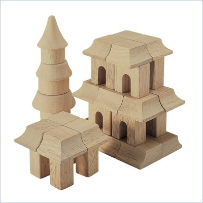 Guidecraft Hardwood Table Top Oriental Block Set