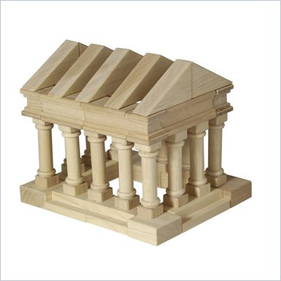 Guidecraft Hardwood Table Top Greek Blocks