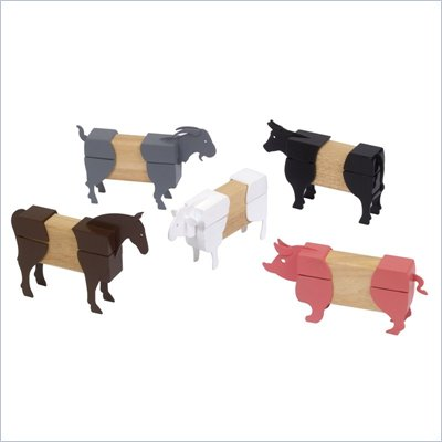 Guidecraft Hardwood Block Mates Farm Animals