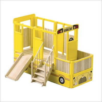 Guidecraft Hardwood Vehicle Loft System School Bus