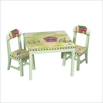Guidecraft Little Farm House Table and Chair Set