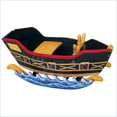 Guidecraft Wooden Retro Rockers Pirate Boat