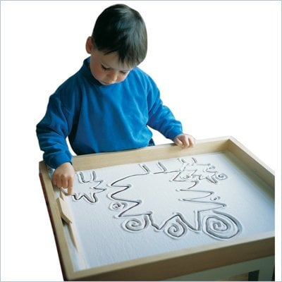 Guidecraft Solid Beech Wood Sand Tray