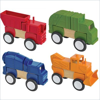 Guidecraft Block Mates: Construction Vehicles