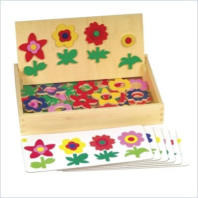 Guidecraft Wooden Flower Match Garden Patch
