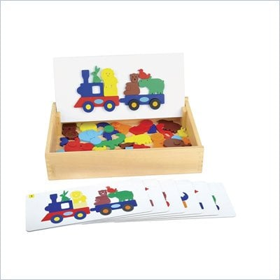 Guidecraft Wooden Animal Train Sort and Match