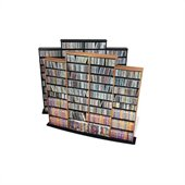 Prepac Quad Width CD DVD Media Storage Wall Unit in Oak and Black Finish