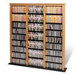 ADD TO YOUR SET: Prepac Triple Width Barrister CD DVD Media Storage Tower in Oak and Black