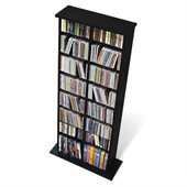 Prepac Double CD DVD Media Storage Rack in Black