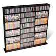 ADD TO YOUR SET: Prepac Triple Width CD DVD Wall Storage Media Tower in Black