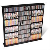 Prepac Triple Width CD DVD Wall Storage Media Tower in Black