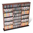 ADD TO YOUR SET: Prepac Triple Width CD DVD Wall Storage Media Tower in Cherry and Black