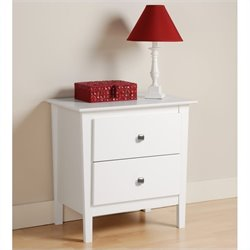 Prepac Berkshire 2 Drawer Nightstand in White
