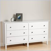 Prepac Berkshire 6 Drawer Double Dresser