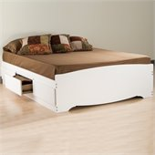 Prepac Monterey Queen 6 Piece Bedroom Set in White