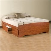 Prepac Monterey Cherry Double / Full Platform Storage Bed